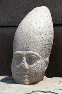 Hedjet, the white crown in stone on a Pharaoh's head